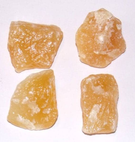 calcite jaune orange brute