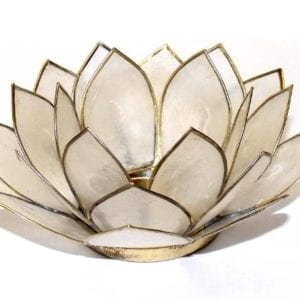 photophore lotus blanc