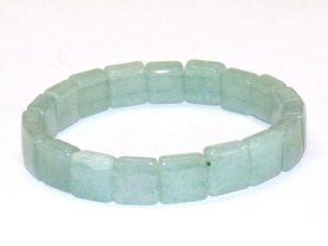 bracelet aventurine verte carré