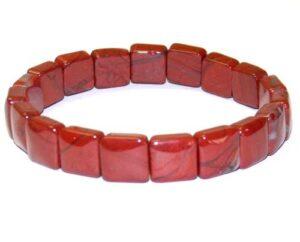 bracelet jaspe rouge carré