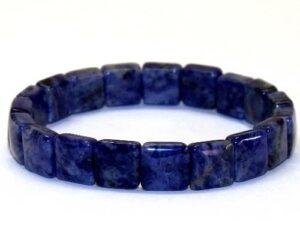 bracelet en sodalite carré