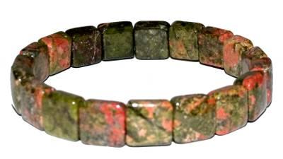 bracelet unakite carré