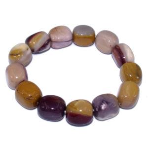 bracelet ovale en pierre de mokaite