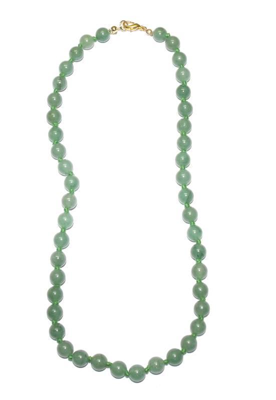 collier aventurine verte boulesacollier avec des boules en aventurine verte