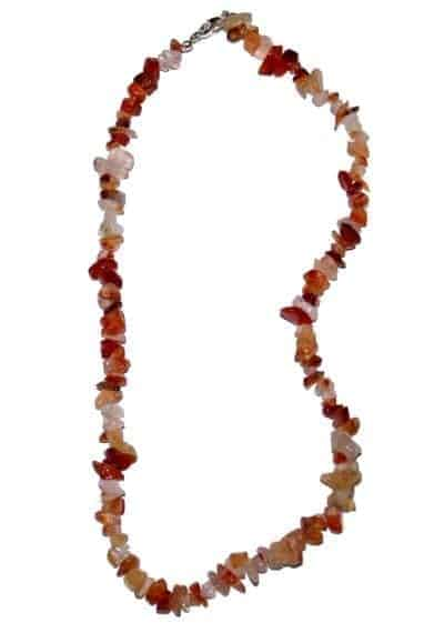 collier cornaline 45cm baroque