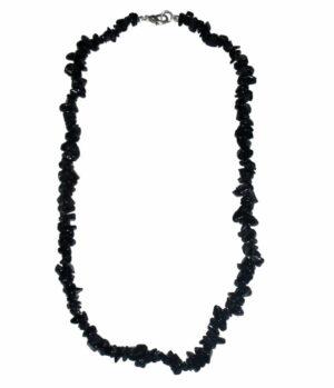 collier onyx noir baroque 45cm