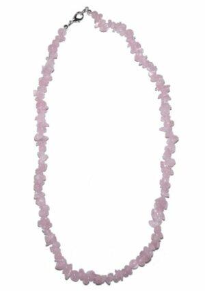 collier quartz rose baroque