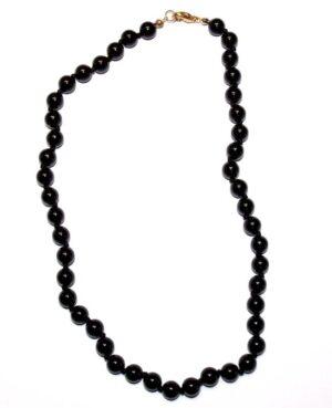 collier onyx noir boules