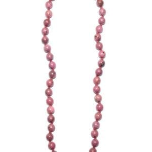 collier rhodonite boules
