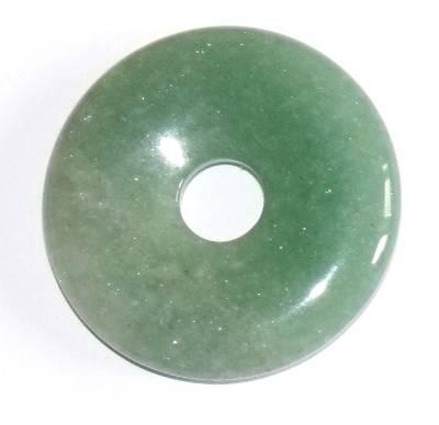pendentif donut pi chinois aventurine verte