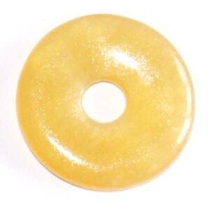 pendentif donut pi chinois calcite jaune