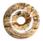 pendentif donut pi chinois jaspe paysage