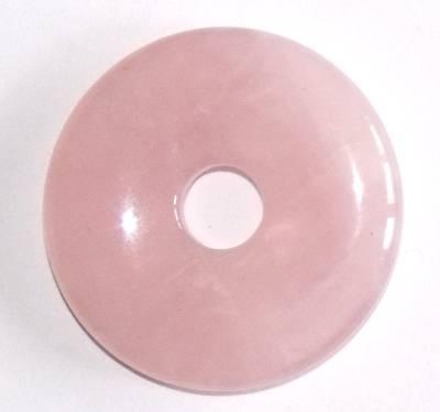 pendentif donut pi chinois quartz rose