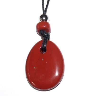 collier donut jaspe rouge