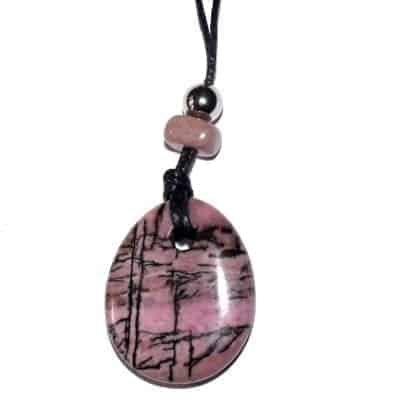 collier donut rhodonite
