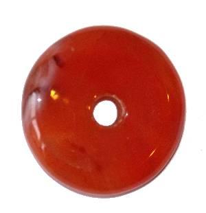 pendentif donut pi chinois cornaline