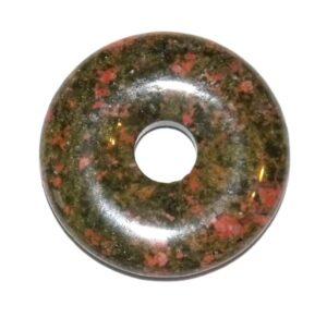 pendentif donut pi chinois unakite