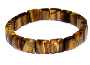 bracelet oeil de tigre carrés