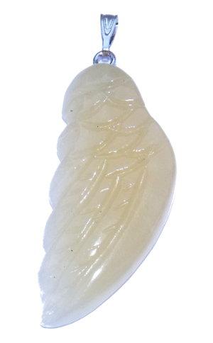 pendentif aile d'ange calcite jaune
