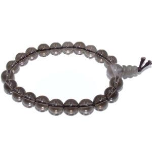 bracelet mala quartz fumé