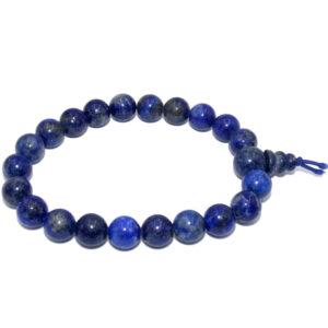 bracelet mala lapis lazuli boule