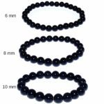 bracelets en pierre de tourmaline noire
