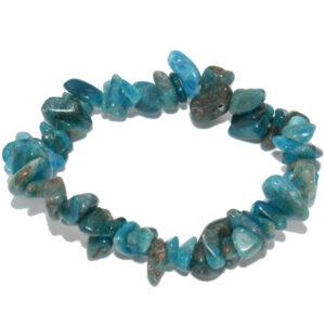 bracelet baroque en pierre d'apatite bleue