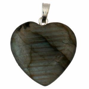 pendentif coeur en pierre de labradorite