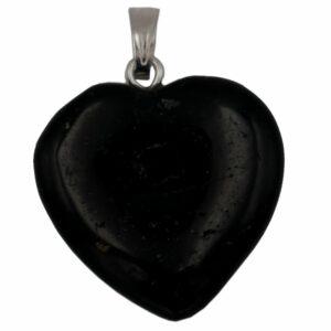 pendentif coeur tourmaline noire