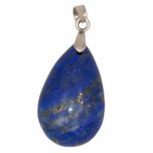 pendentif lapis lazuli en forme de goutte en pierre