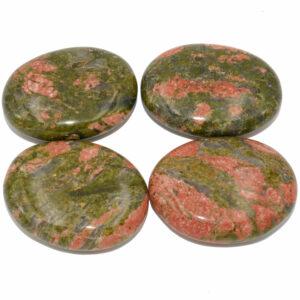 unakite pierre en galet plat